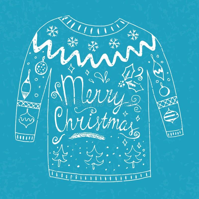 Suéter con el texto libre illustration