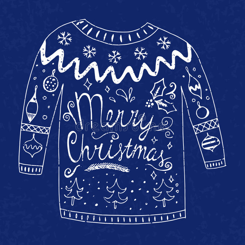 Suéter con el texto stock de ilustración