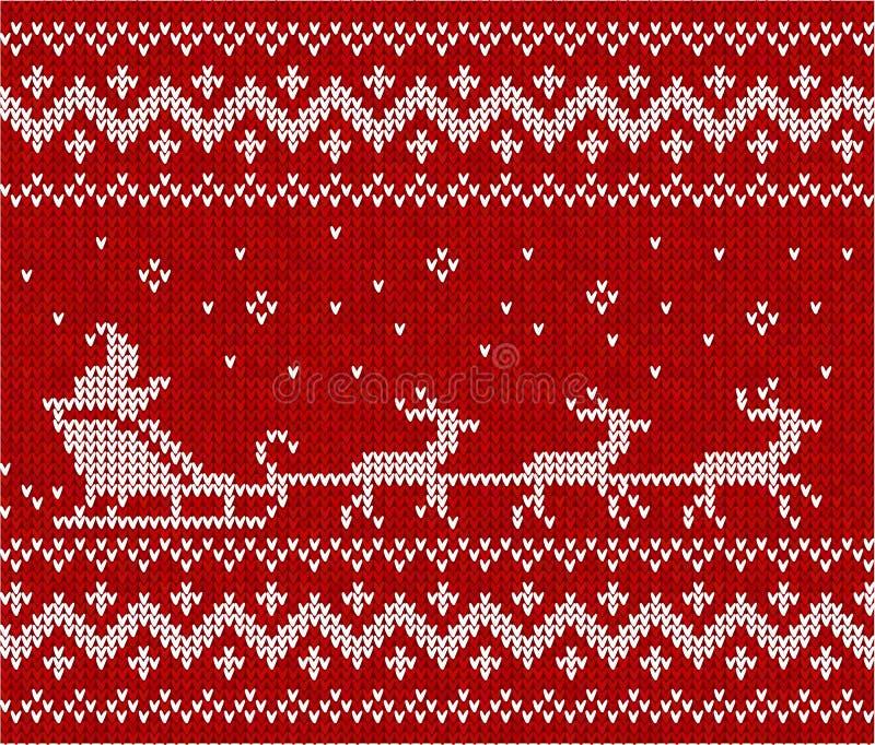 Suéter con Santa y sus deers ilustración del vector