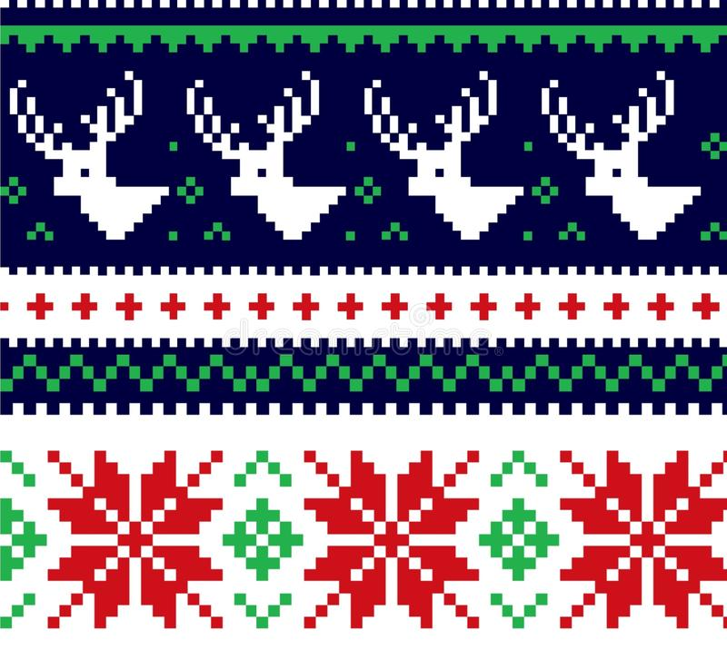 Suéter de la Navidad stock de ilustración