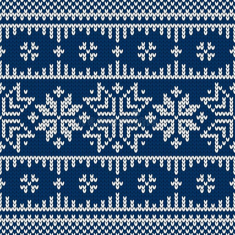 Suéter de la Navidad del invierno del diseño del fairisle libre illustration