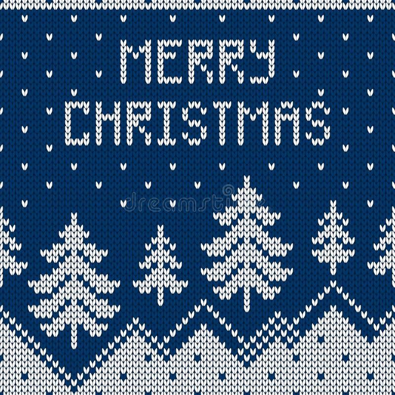 Suéter de la Navidad del invierno del diseño del fairisle ilustración del vector
