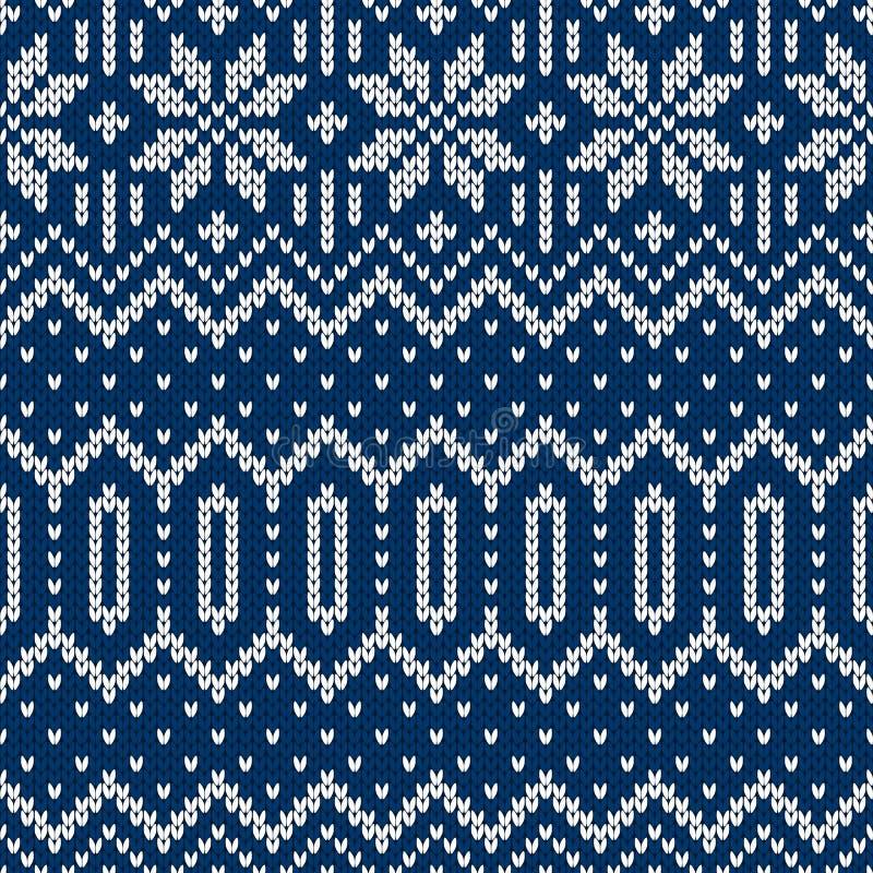 Suéter de la Navidad del invierno del diseño del fairisle stock de ilustración