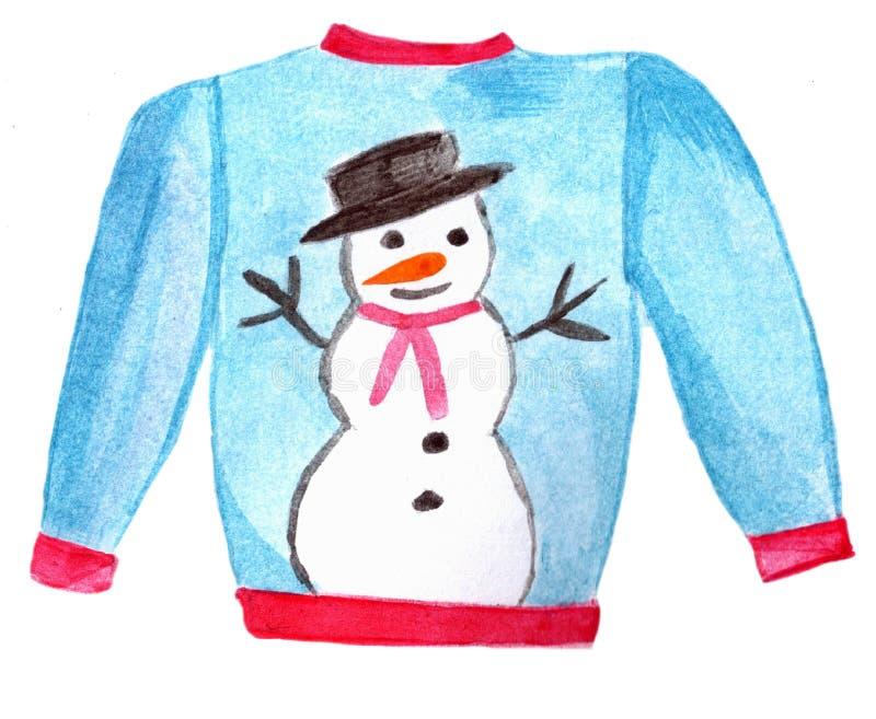 Suéter feo de la Navidad libre illustration