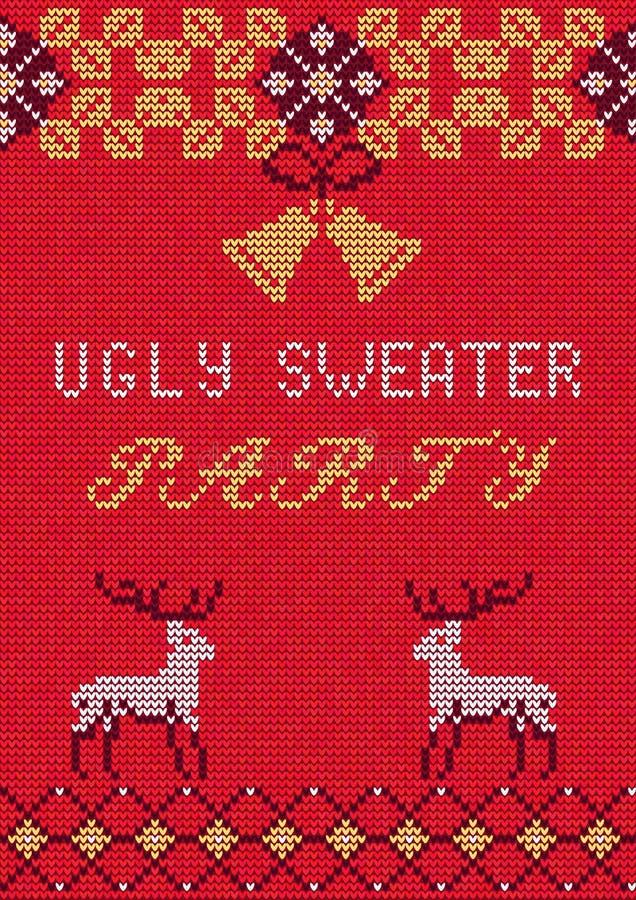 Suéter feo Party3 stock de ilustración