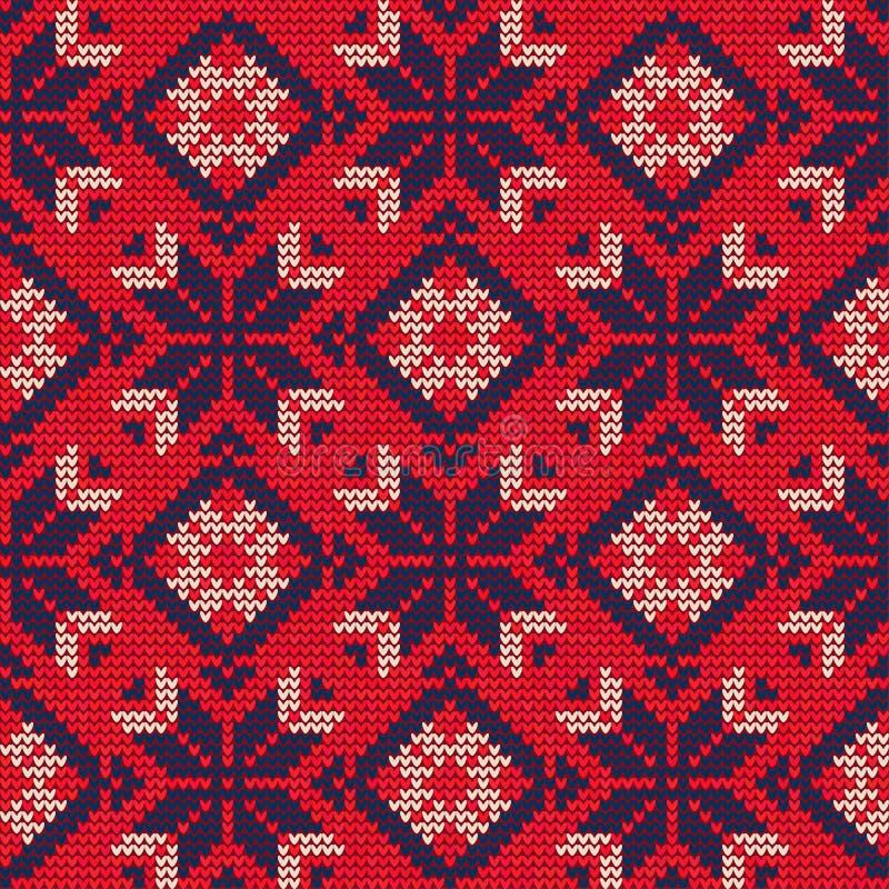 Suéter Pattern9 de la Navidad stock de ilustración