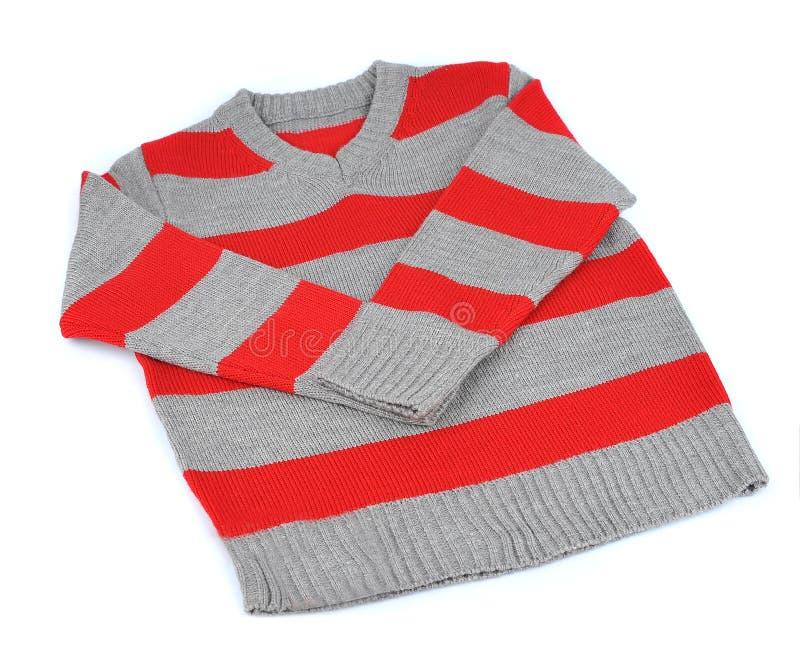 Suéter rayado caliente imagen de archivo