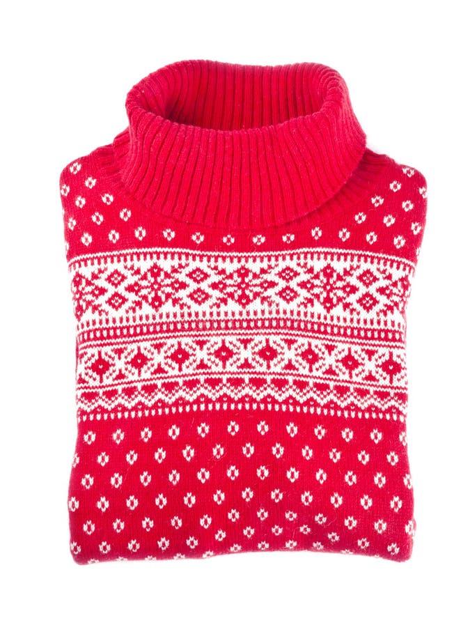 Suéter rojo de las lanas imágenes de archivo libres de regalías