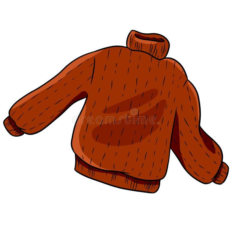Suéter rojo del otoño del inconformista Ejemplo aislado vector stock de ilustración