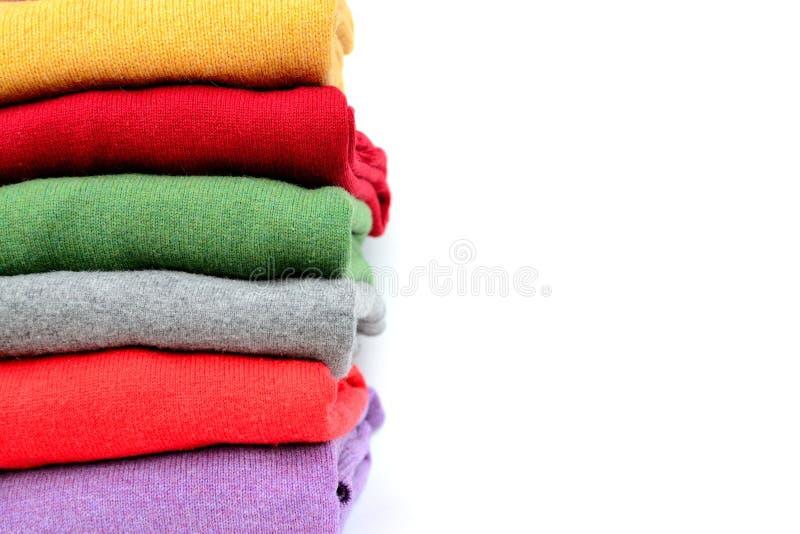 Suéteres de lana imagen de archivo libre de regalías