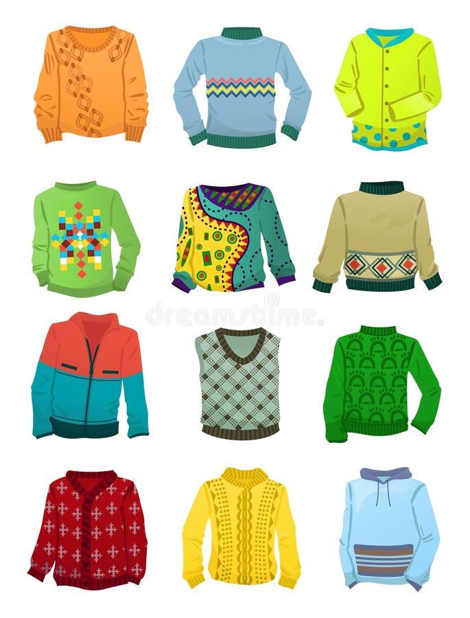 Suéteres para los muchachos ilustración del vector