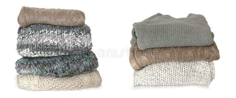 Suéteres plegables imagenes de archivo