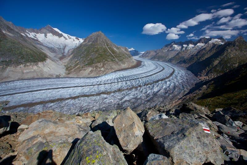Suíça - arena de Aletch foto de stock royalty free
