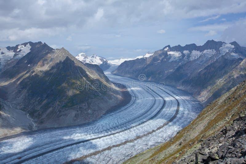 Suíça - arena de Aletch imagem de stock royalty free