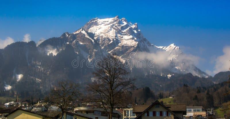 Suíça da paisagem da montanha foto de stock