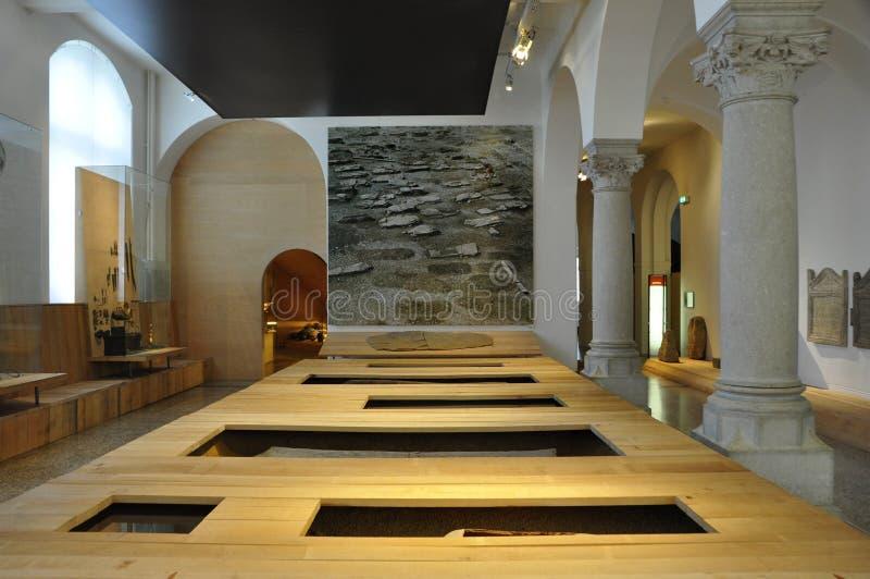 Suíça: exposição no Museu Nacional suíço em ricos do ¼ de ZÃ fotografia de stock royalty free