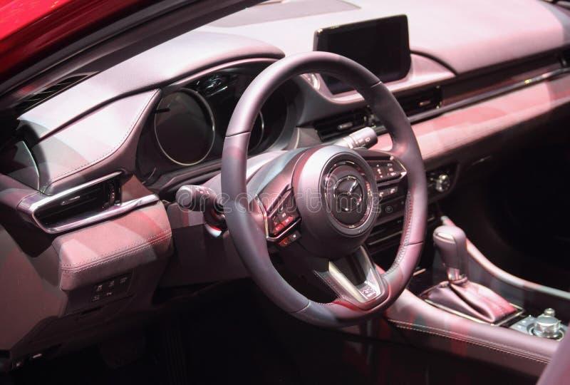 Suíça; Genebra; 8 de março de 2018; Interior de Mazda; O 88th Int foto de stock