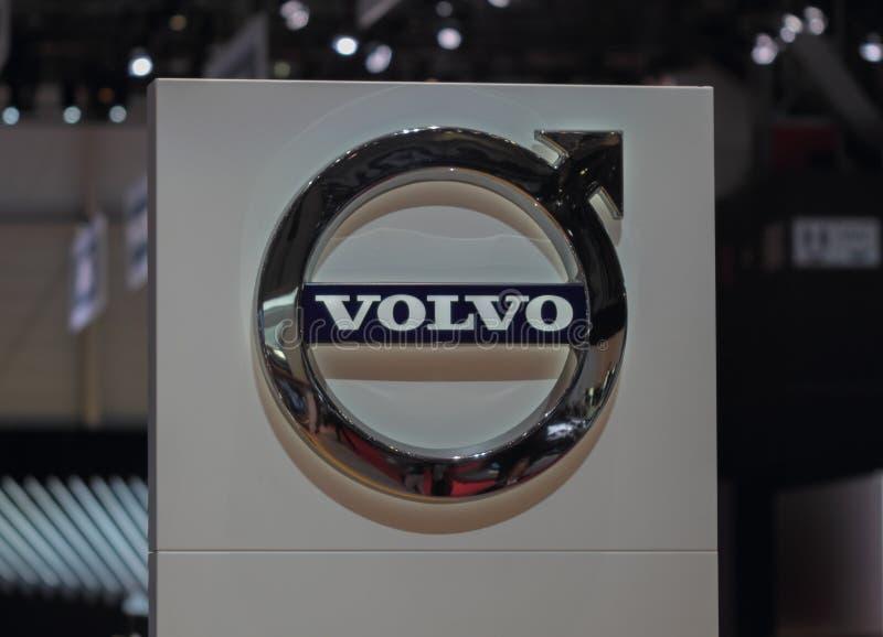 Suíça; Genebra; 8 de março de 2018; Logotipo de Volvo; o 88th Interna fotos de stock royalty free