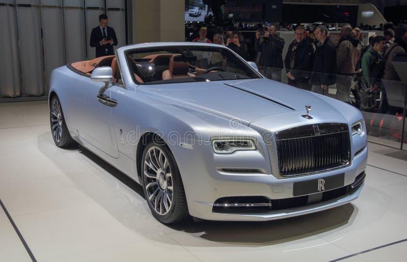 Suíça; Genebra; 8 de março de 2018; O Rolls Royce Rolls-Royce imagens de stock