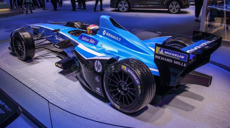 Suíça; Genebra; 8 de março de 2018; Renault E Fórmula E dos sonhos foto de stock