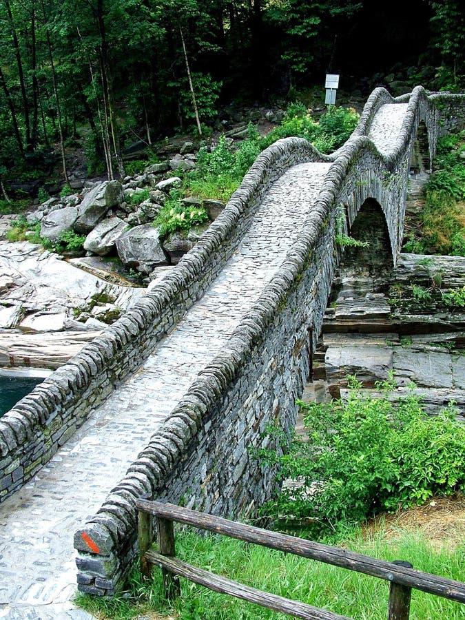Suíça, saltri do dei do ponte foto de stock