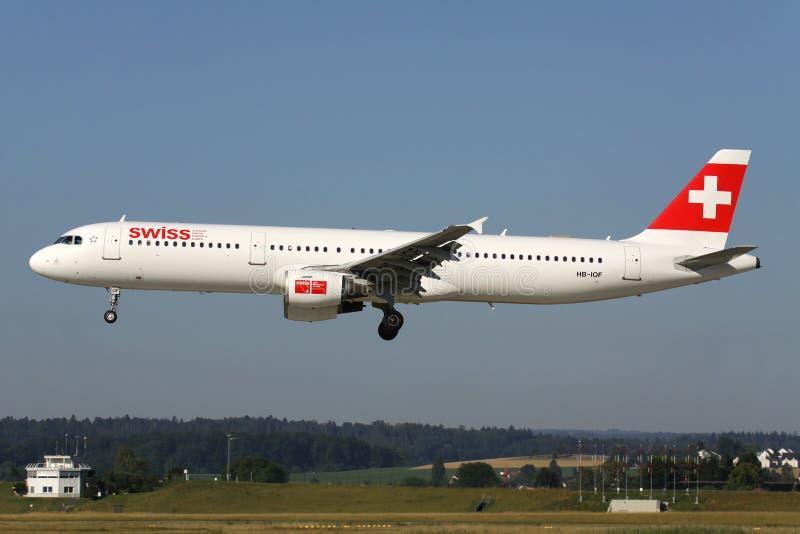 Suíço Airbus A321-100 fotos de stock