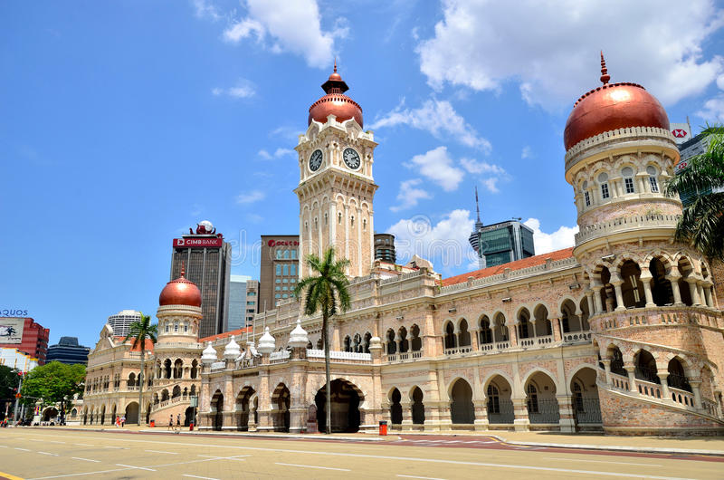 Sułtan Abdul Samad Buduje Kuala Lumpur obraz stock