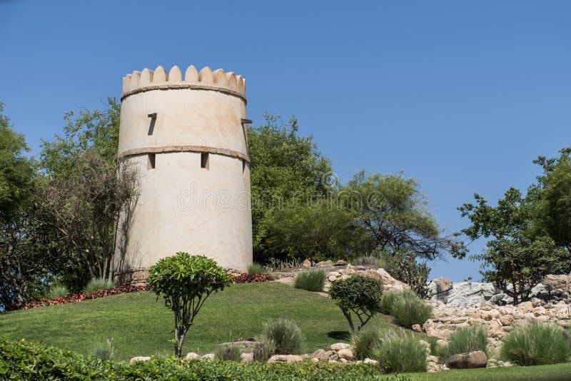 Sułtan Qabus powiedział fortu fortecy wierza Oman salalah 4 obraz stock