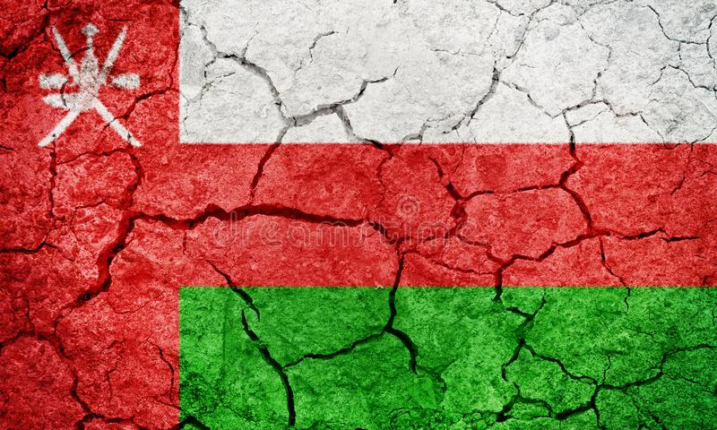 Sułtanat Oman flaga ilustracja wektor