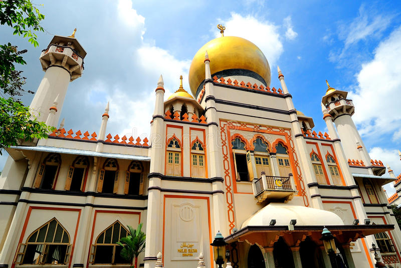 Sułtanu Meczet, Singapur. zdjęcie stock