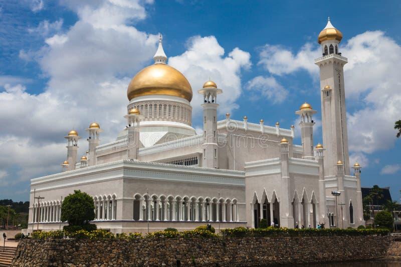 Sułtanu Omar Ali Saifuddin meczet w Brunei obrazy royalty free