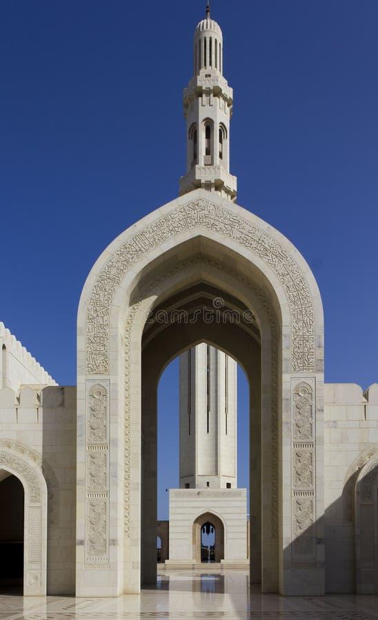 Sułtanu Qaboos Uroczysty meczet, muszkat, Oman obraz royalty free