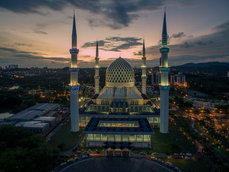 Sułtanu Salahuddin Abdul Aziz Shah meczet, Shah Alam, Selangor, Malezja obrazy royalty free