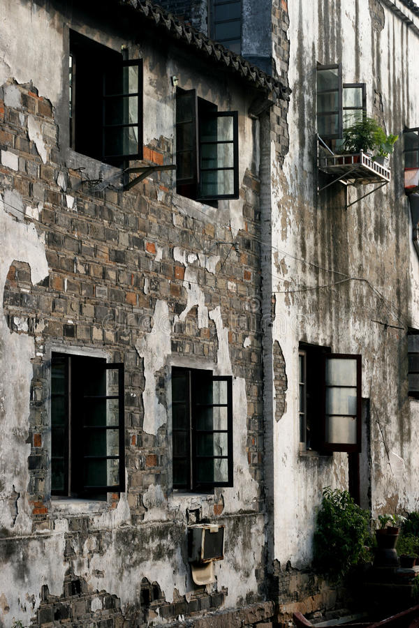 Su样式建筑学的墙壁 免版税库存照片