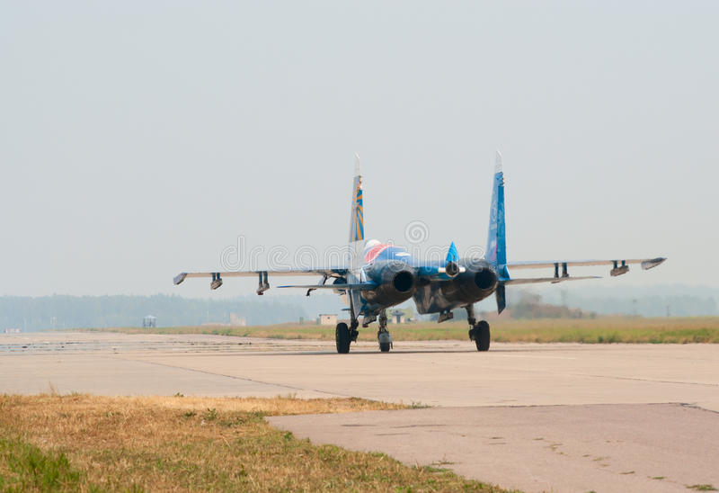 Download Su-27's (Russkie Vityazi) editorial photo. Image of airforce - 15662916