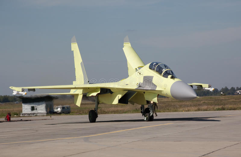 Download Su-30MK just landed stock image. Image of russia, take - 11085099