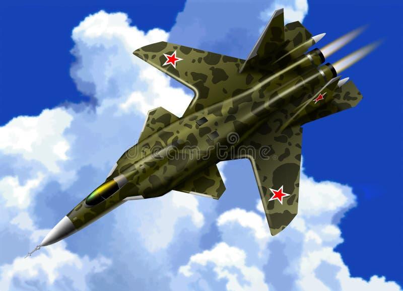 Su-47 vector illustratie