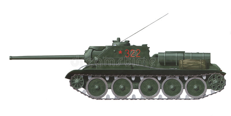 Download SU-85 self propelled gun stock illustration. Illustration of russian - 2312524