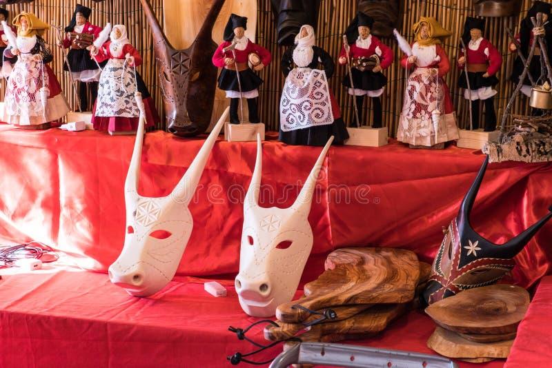 Su-boe, traditionell sardinian maskering royaltyfri foto