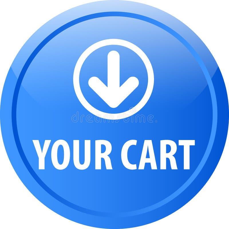 Su botón del web del carro libre illustration