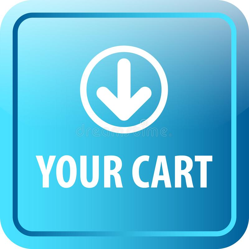 Su botón del web del carro ilustración del vector