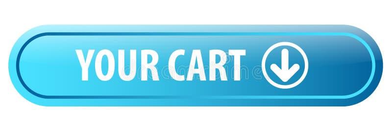 Su botón del web del carro stock de ilustración