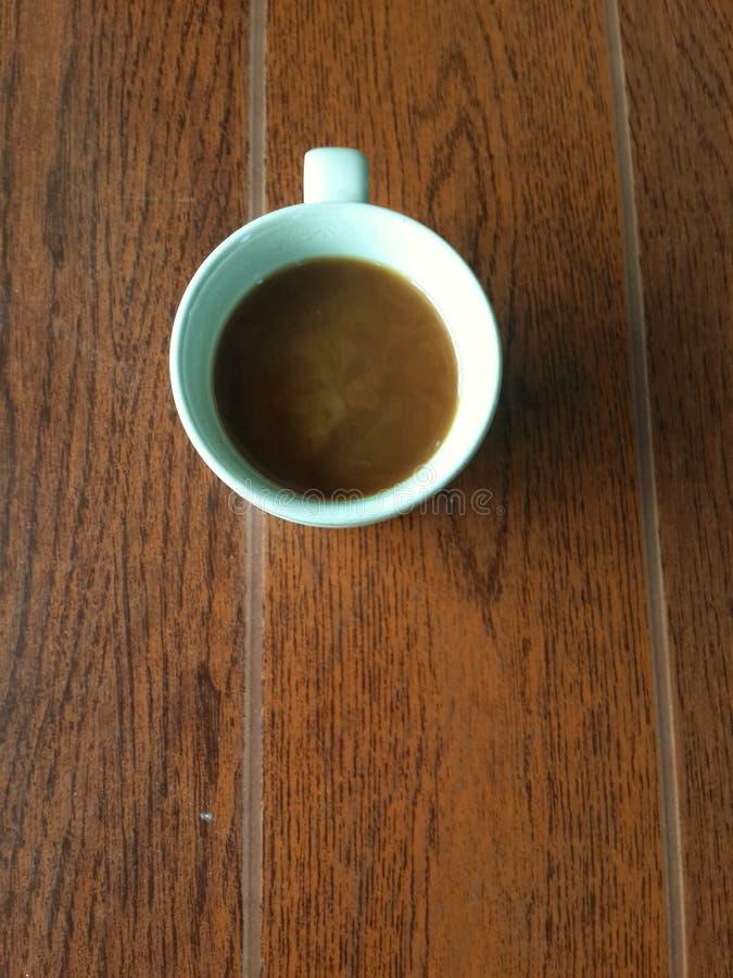 Su caffè superiore nella mattina fotografia stock