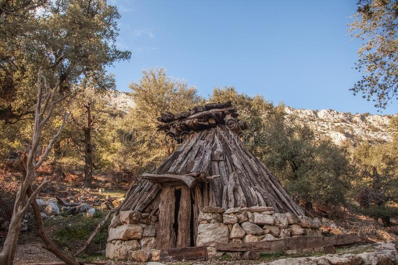 Su Cuile - Old Shepherd house in the path to Gola su Gorroppu -. Sardinia royalty free stock images