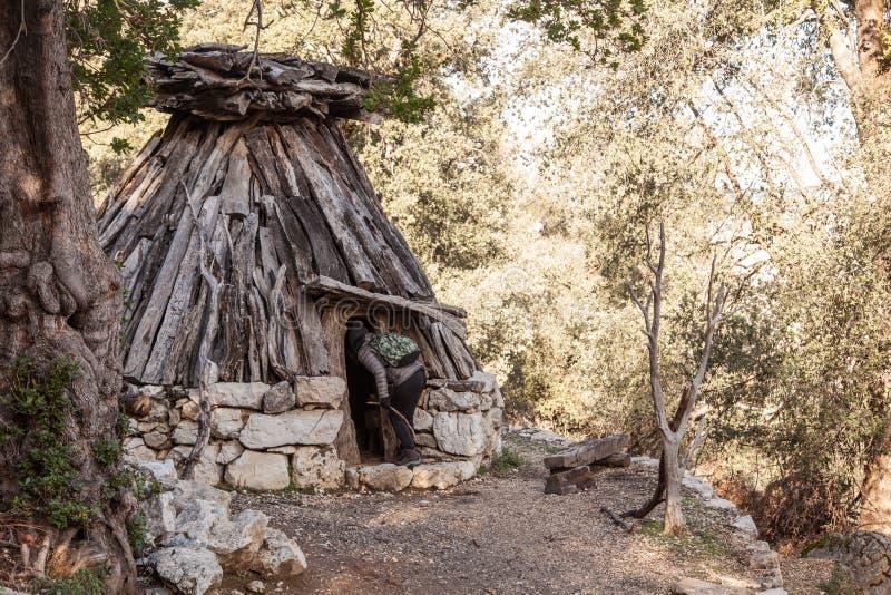 Su Cuile - Old Shepherd house in the path to Gola su Gorroppu - Sardinia.  stock images