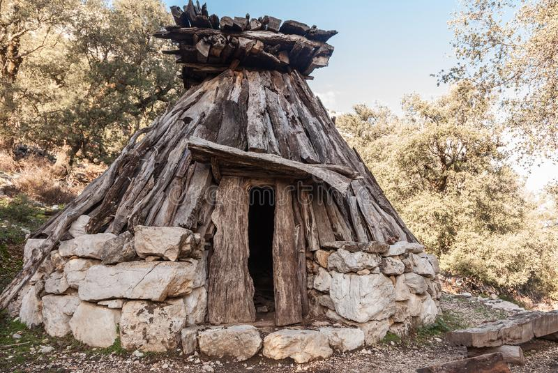 Su Cuile - Old Shepherd house in the path to Gola su Gorroppu - Sardinia.  royalty free stock images