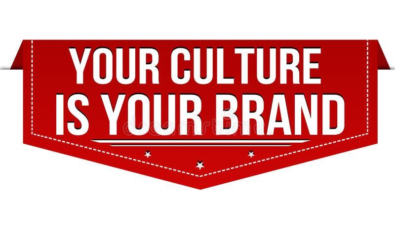 Su cultura es su diseño de la bandera de la marca libre illustration