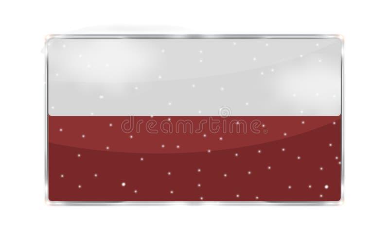 Su del texto botón rojo del icono de los copos de nieve del espacio en blanco aquí libre illustration