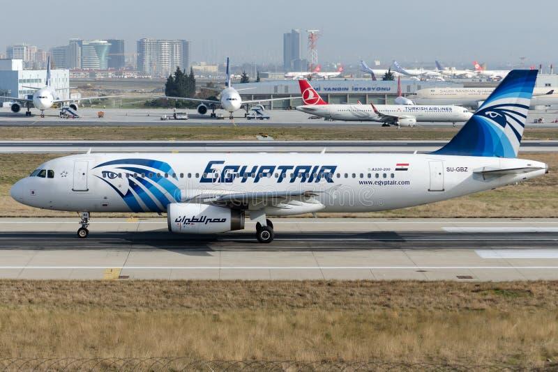 SU-GBZ EgyptAir , Airbus A320-232 stock image