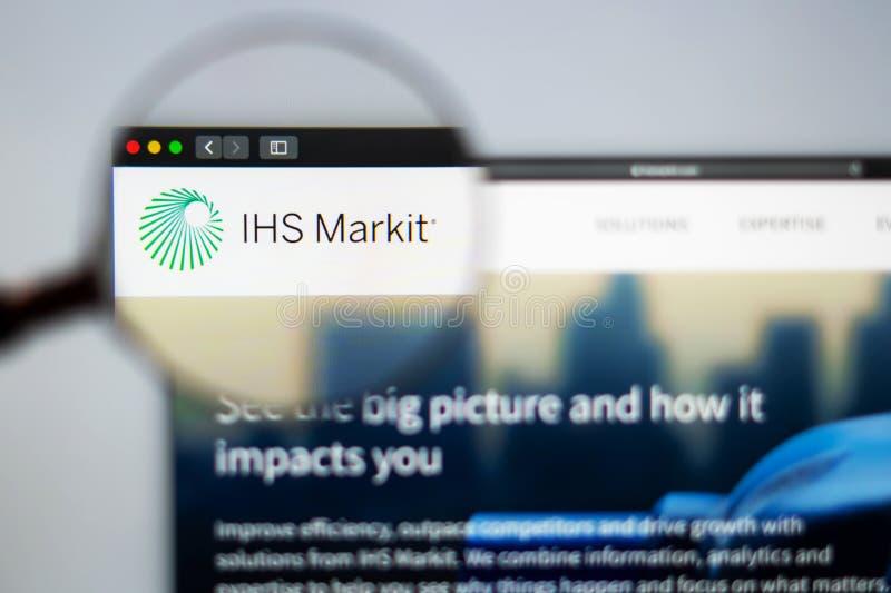 SU homepage de la página web de la compañía Ciérrese para arriba de SU logotipo de Markit fotografía de archivo